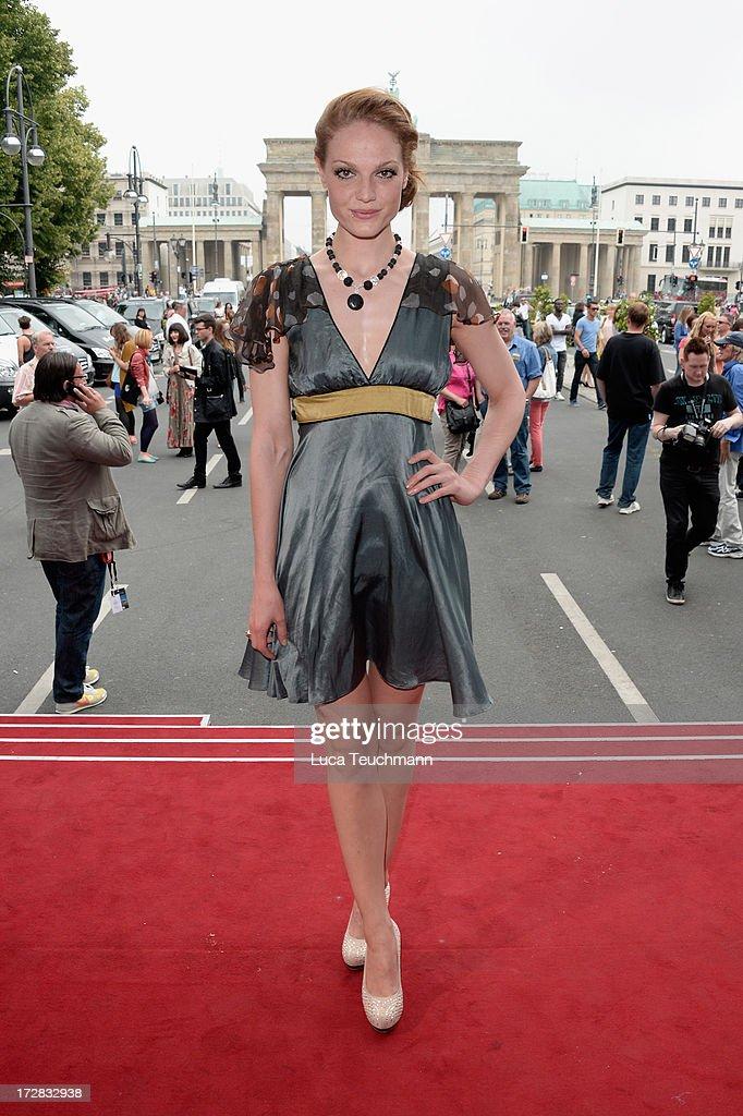 Isabella Vinet attends the Umasan Show during Mercedes-Benz Fashion Week Spring/Summer 2014 at Brandenburg Gate on July 5, 2013 in Berlin, Germany.