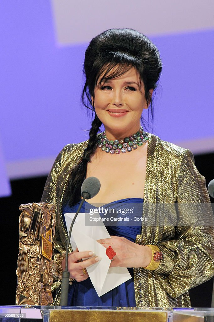 Isabelle Adajani on stage with her 'Best Actress' Cesar Award during the 35th Cesar awards ceremony, held at the Chatelet theater in Paris.