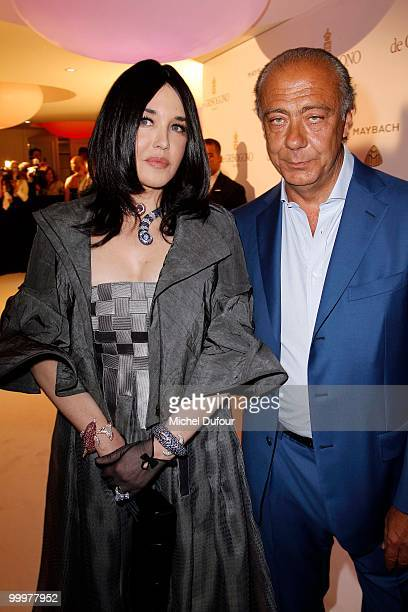 Isabelle Adjani and Fawaz Gruosi attend the de Grisogono party at the Hotel Du Cap on May 18 2010 in Cap D'Antibes France