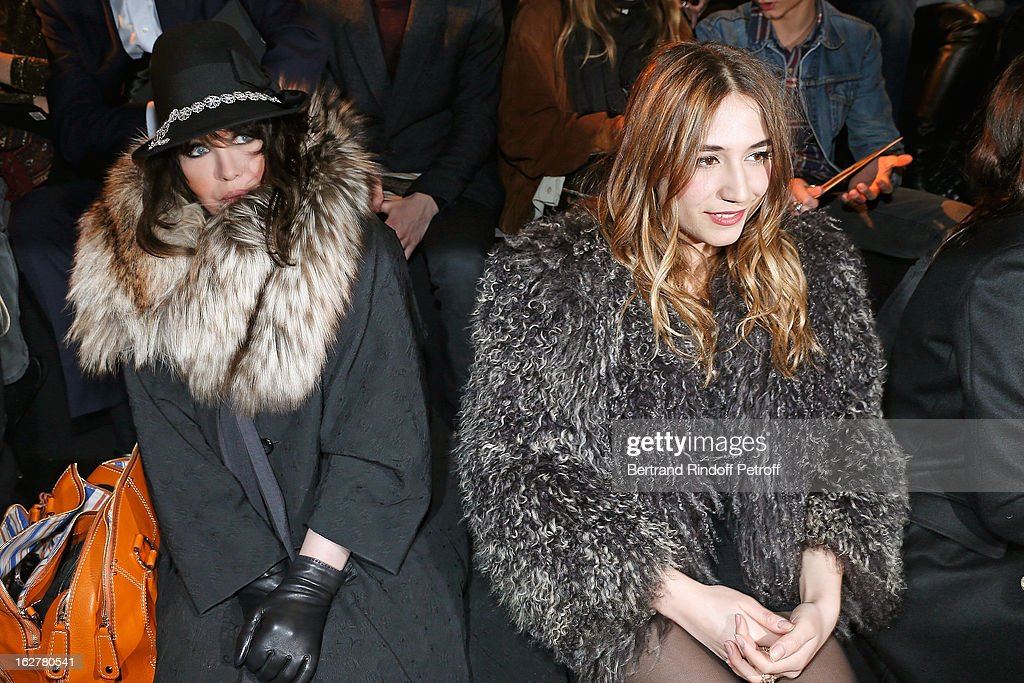 <a gi-track='captionPersonalityLinkClicked' href=/galleries/search?phrase=Isabelle+Adjani&family=editorial&specificpeople=652070 ng-click='$event.stopPropagation()'>Isabelle Adjani</a> (L) and Izia Higelin attend the Etam Live Show Lingerie at Bourse du Commerce on February 26, 2013 in Paris, France.