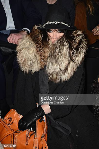 Isabelle Adjani attends the Etam Live Show Lingerie at Bourse du Commerce on February 26 2013 in Paris France