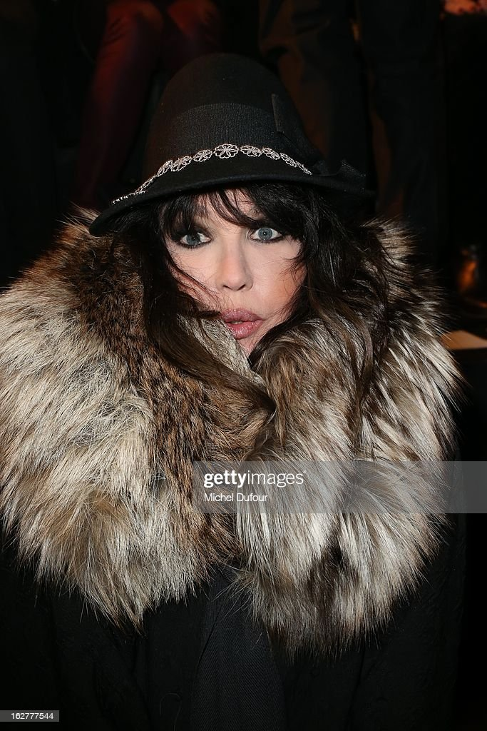 Isabelle Adjani attends the Etam Live Show Lingerie at Bourse du Commerce on February 26, 2013 in Paris, France.