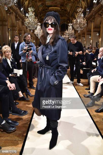 Isabelle Adjani attends the Lanvin show as part of the Paris Fashion Week Womenswear Fall/Winter 2017/2018 >> on March 1 2017 in Paris France