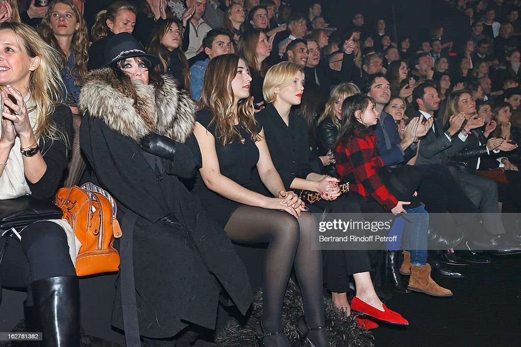 <a gi-track='captionPersonalityLinkClicked' href=/galleries/search?phrase=Isabelle+Adjani&family=editorial&specificpeople=652070 ng-click='$event.stopPropagation()'>Isabelle Adjani</a>, Izia Higelin and Lea Seydoux attend the Etam Live Show Lingerie at Bourse du Commerce on February 26, 2013 in Paris, France.