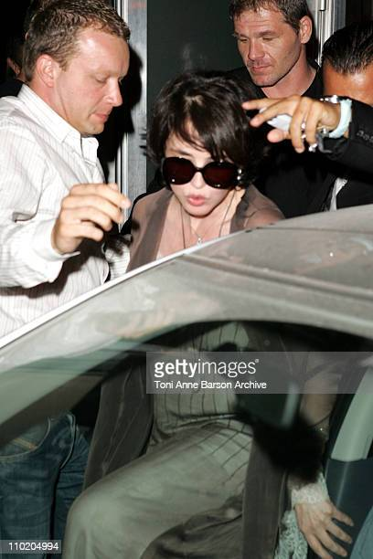 Isabelle Adjani leaving the VIP Room in a 'Smart' Car