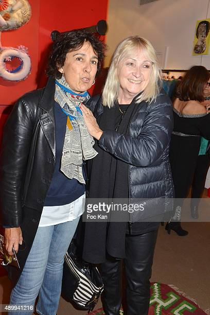 Isabelle Alonso and Julie Leclerc attend the Nathalie Garcon's 'Carnet de Voyages en Tunisie' at Nathalie Garcon Shop on September 24 2015 in Paris...