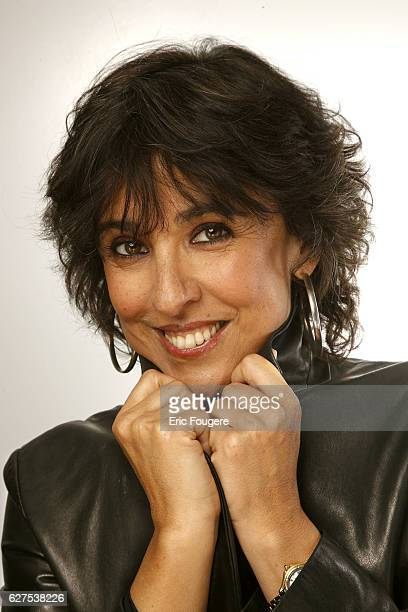 Isabelle Alonso on the set of the TV show 'Les Grands du Rire'