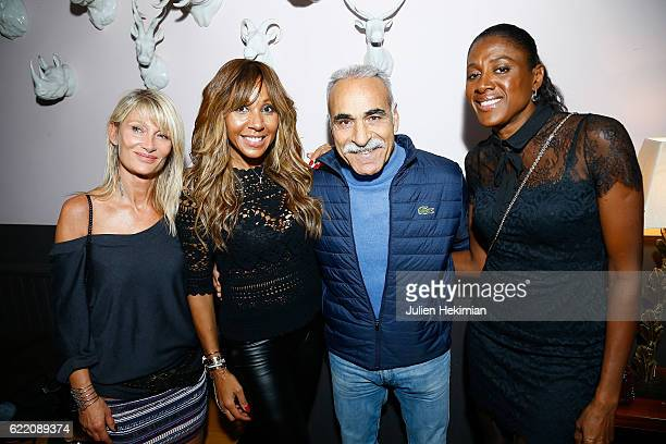 Isabelle Camus Cathy Guetta Mansour Bahrami and Marie Jose Perec attend 'Fete le Mur' Celebration 20th Anniversary At Chalet des Iles In Paris on...