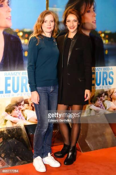 Isabelle Carre and Maria Duplaa attend the 'Une Vie Ailleurs' Paris Premiere at UGC Cine Cite des Halles on March 20 2017 in Paris France