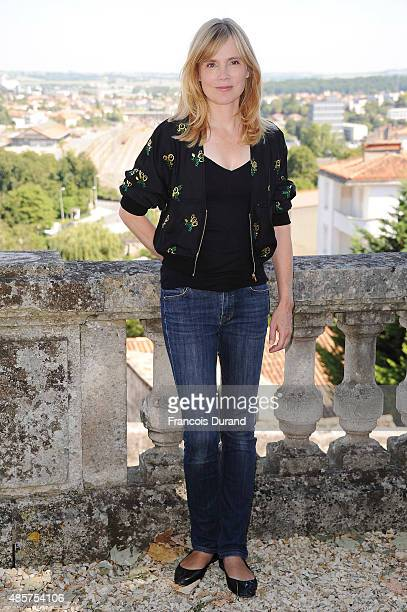 Isabelle Carre attends a photocall during the 8th Angouleme FrenchSpeaking Film Festival on August 29 2015 in Angouleme France