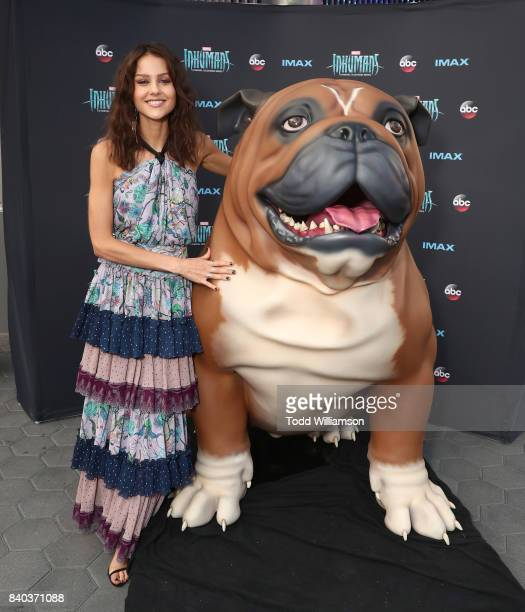 Isabelle Cornish attends the premiere of ABC and Marvel's 'Inhumans' at Universal CityWalk on August 28 2017 in Universal City California