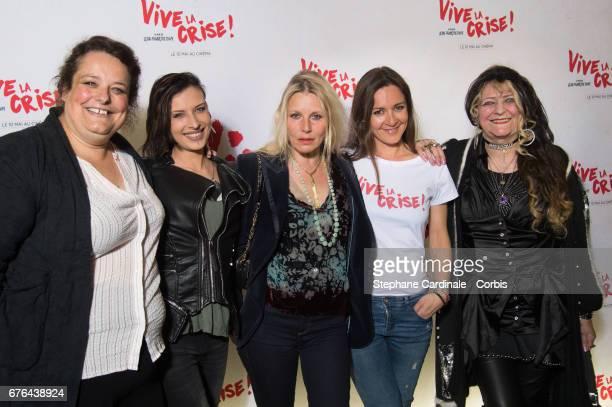 Isabelle de Hertogh Amel Annoga Florence Thomassin Emmanuelle Boidron and Angelique Litzenburger attend the 'Vive La Crise' Paris Premiere at Cinema...