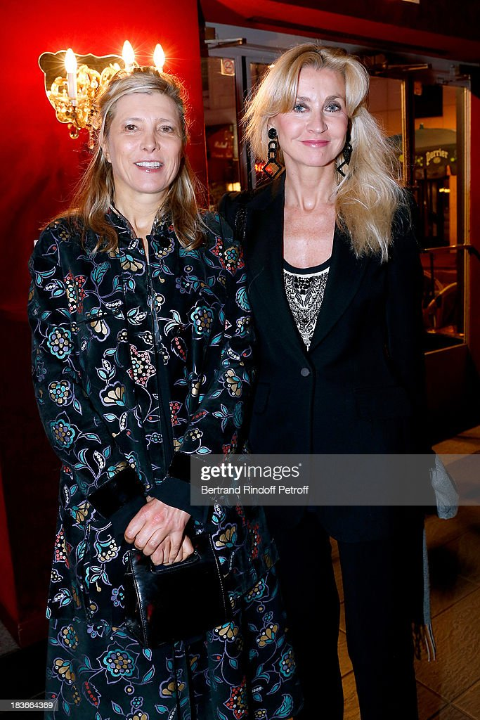 Isabelle de Sejournet and Sophie de Charbonniere attending 'La Dame De La Mer' : Gala play to benefit Care Humanitarian Organization, held in Montparnasse Theater in Paris on October 8, 2013 in Paris, France.