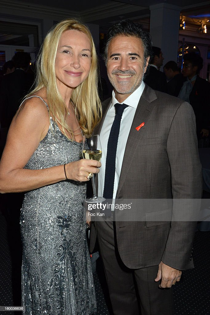 Isabelle Doval and Jose Garcia attend the Sidaction Gala Dinner 2013 at Pavillon d'Armenonville on January 24, 2013 in Paris, France.