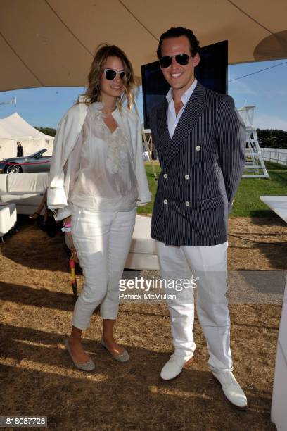 Isabelle Escher and Brad Waywell attend Avantair Polo Star Hosts 1st Annual Sunday Classic with Nacho Figueras Benefiting WORK TO RIDE at Two Trees...
