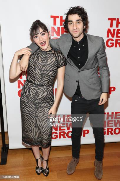 Isabelle Fuhrman and Alex Wolff attend 'All The Fine Boys' Opening Night on March 1 2017 in New York City