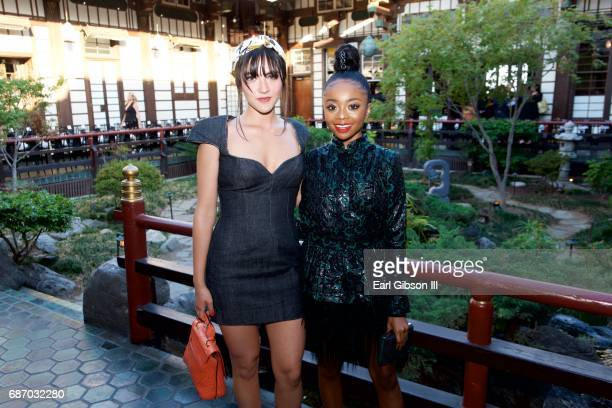 Isabelle Fuhrman and Skai Jackson attend the Wolk Morais Collection 5 Fashion Show at Yamashiro Hollywood on May 22 2017 in Los Angeles California