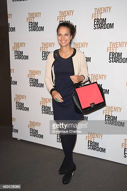Isabelle Giordano attends the '20 Feet From Stardom' Paris premiere at Cinema UGC Normandie on November 18 2013 in Paris France