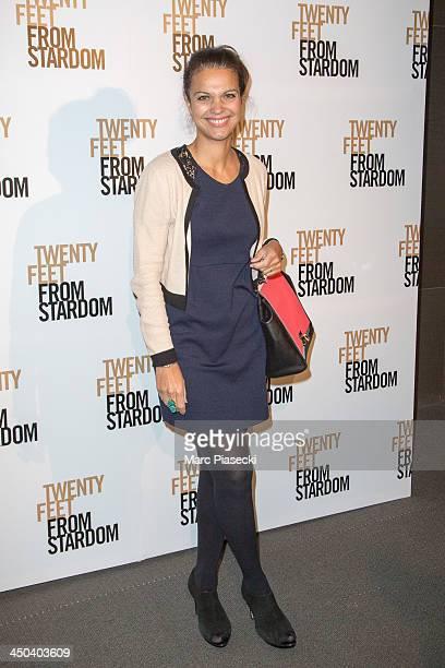 Isabelle Giordano attends the 'Twenty feet from stardom' Paris premiere at Cinema UGC Normandie on November 18 2013 in Paris France