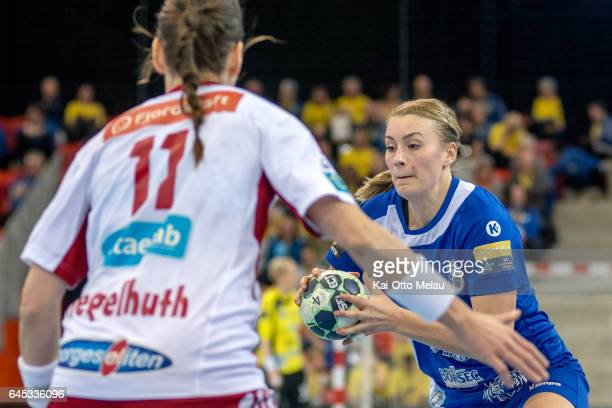 Isabelle Gulldn in the Women's EHF Champions league match between Larvik HK and CSM Bucuresti on February 25 2017 in Larvik Norway