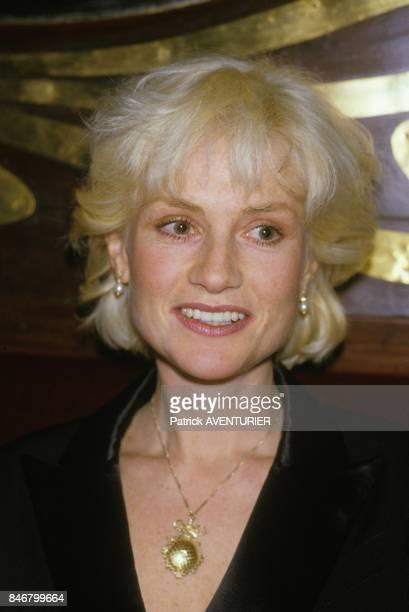 Isabelle Huppert a l'hommage a Clint Eastwood le 7 janvier 1985 a Paris France