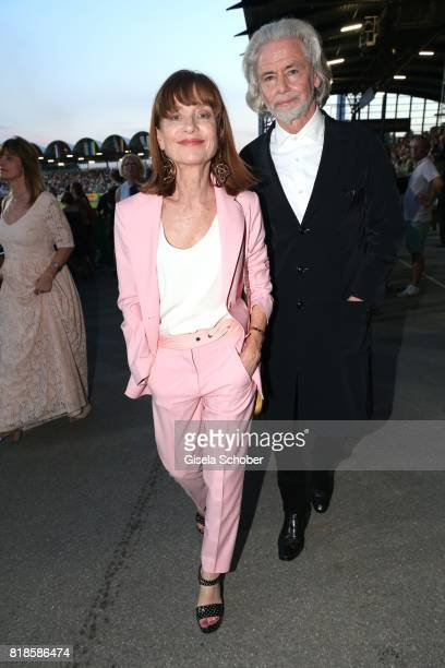 Isabelle Huppert and CEO Lambertz Hermann Buehlbecker during the media night of the CHIO 2017 on July 18 2017 in Aachen Germany