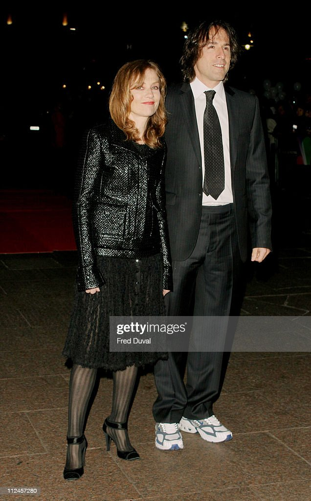 Isabelle Huppert and director David O Russell during 'I Heart Huckabees' London Premiere at Odeon Leicester Square in London United Kingdom
