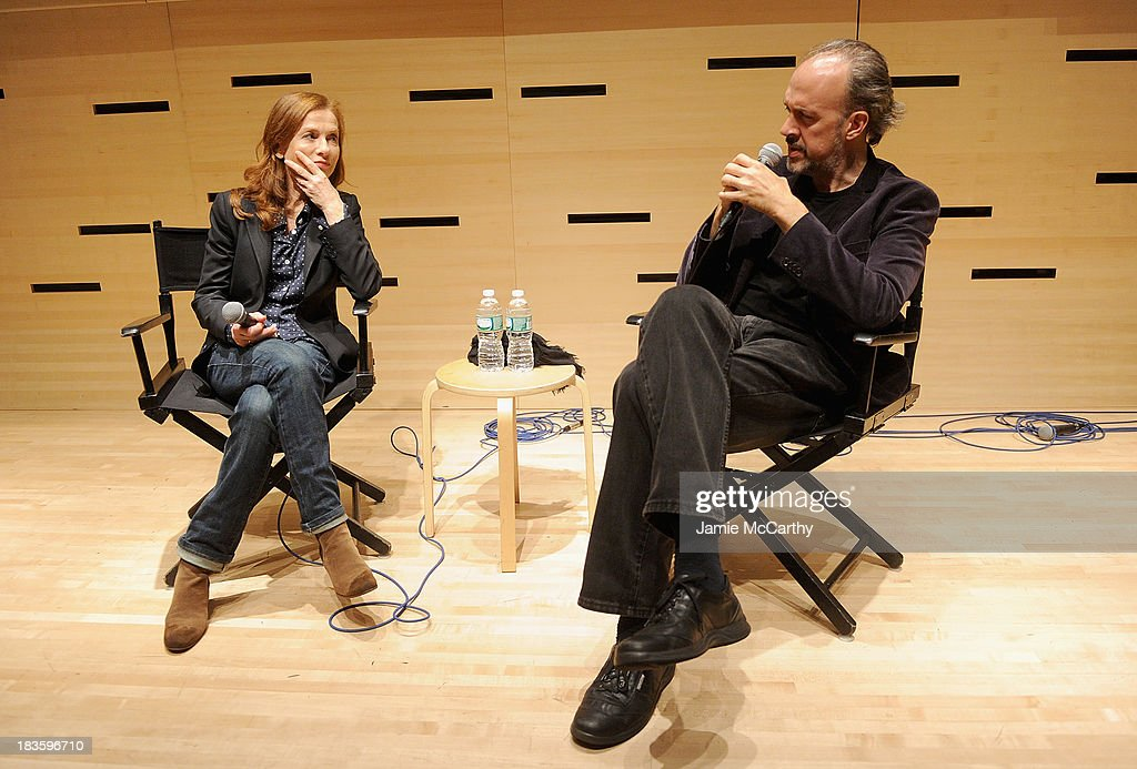 <a gi-track='captionPersonalityLinkClicked' href=/galleries/search?phrase=Isabelle+Huppert&family=editorial&specificpeople=662796 ng-click='$event.stopPropagation()'>Isabelle Huppert</a> and <a gi-track='captionPersonalityLinkClicked' href=/galleries/search?phrase=Kent+Jones+-+Writer&family=editorial&specificpeople=562462 ng-click='$event.stopPropagation()'>Kent Jones</a>, Director of Programming for the New York Film Festival attend the <a gi-track='captionPersonalityLinkClicked' href=/galleries/search?phrase=Isabelle+Huppert&family=editorial&specificpeople=662796 ng-click='$event.stopPropagation()'>Isabelle Huppert</a>, 'Abuse Of Weakness' panel during the 51st New York Film Festival at Elinor Bunin Munroe Film Center on October 7, 2013 in New York City.