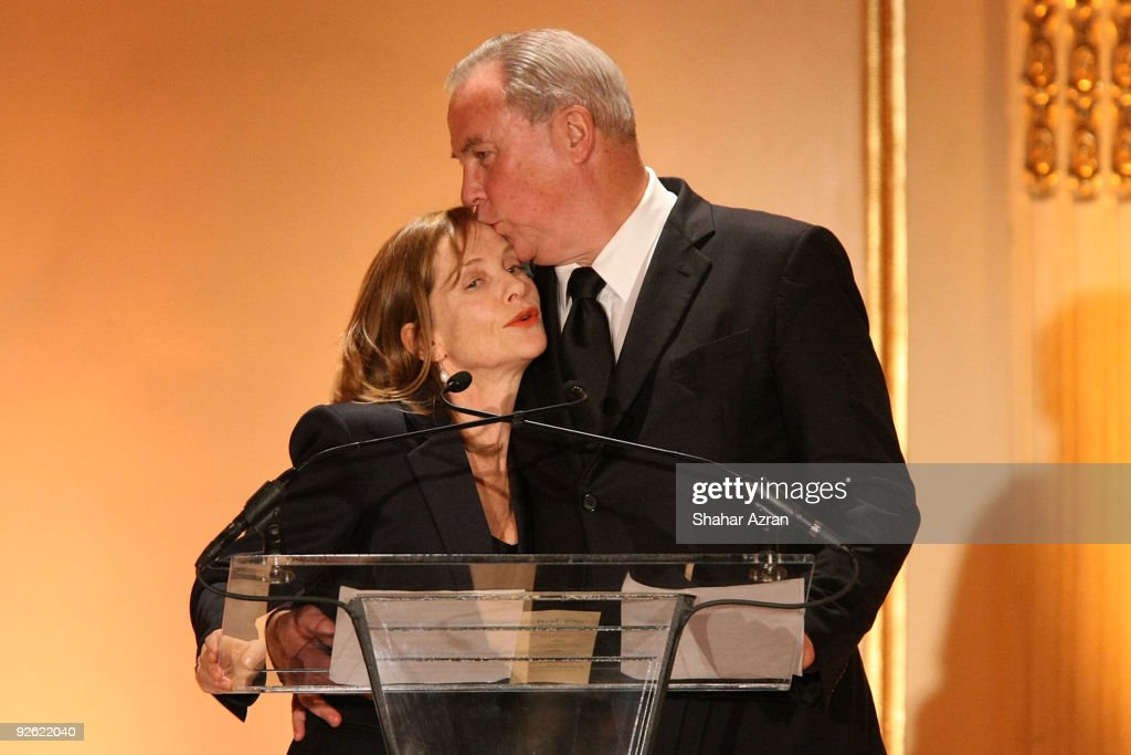 Isabelle Huppert and Robert Wilson at the 2009 French Institute Alliance Francaise Trophee des Arts Gala at The Plaza Hotel on November 2 2009 in New...