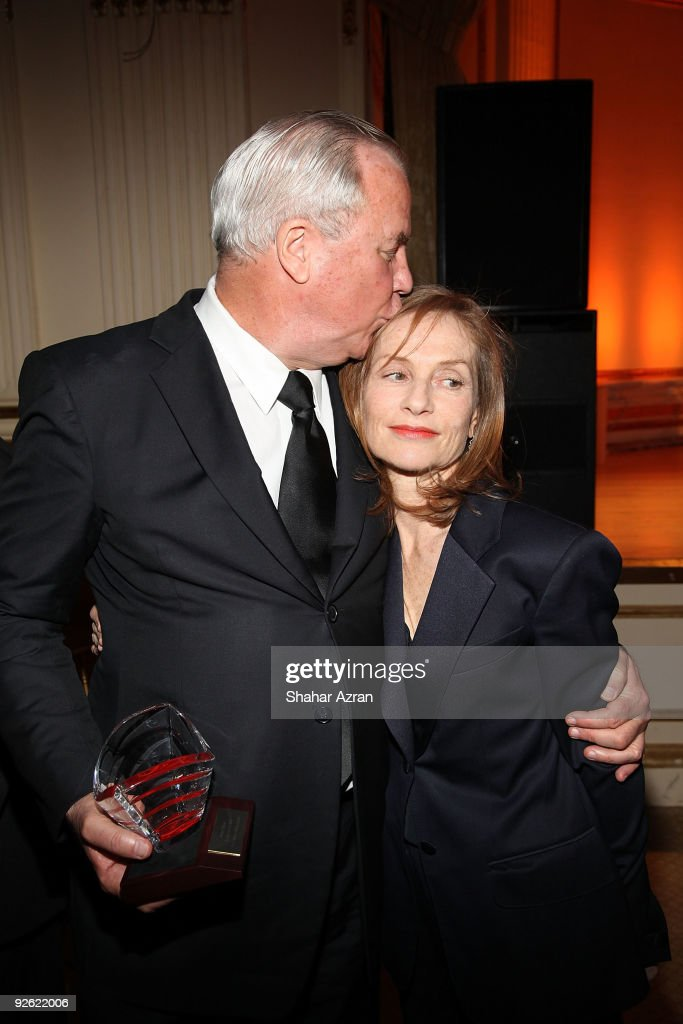 Isabelle Huppert and Robert Wilson the 2009 French Institute Alliance Francaise Trophee des Arts Gala at The Plaza Hotel on November 2 2009 in New...