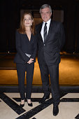 Isabelle Huppert and Sidney Toledano attend Dior Dinner held at Mandarin Oriental Hotel as part of the 14th Marrakech International Film Festival on...