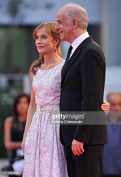 Isabelle Huppert and Toni Servillo attend 'Bella Addormentata' Premiere at the 69th Venice Film Festivalon September 5 2012 in Venice Italy