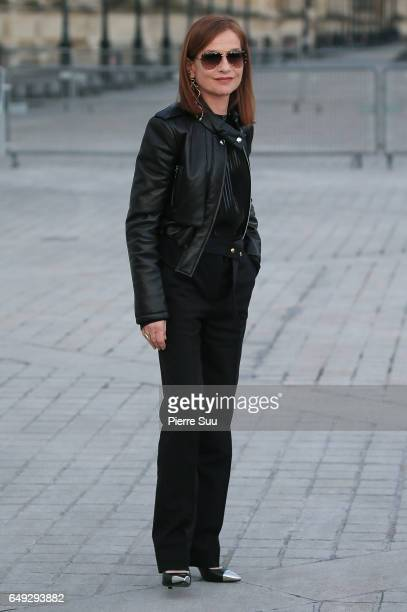 Isabelle Huppert arrives at the Louis Vuitton show as part of the Paris Fashion Week Womenswear Fall/Winter 2017/2018 on March 7 2017 in Paris France
