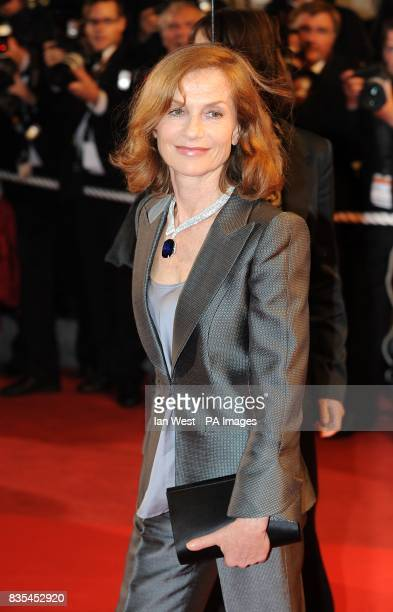 Isabelle Huppert arriving for the 'Precious' premiere at the Palais de Festival during the 62nd Cannes Film Festival France