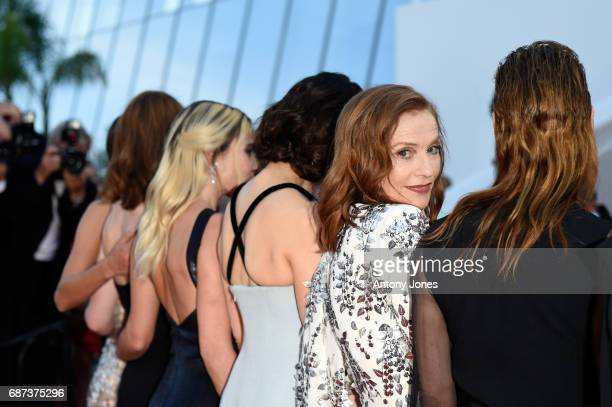Isabelle Huppert attend the 70th Anniversary of the 70th annual Cannes Film Festival at Palais des Festivals on May 23 2017 in Cannes France