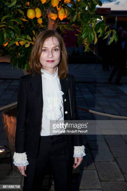 Isabelle Huppert attend the Cini party during the 57th International Art Biennale on May 10 2017 in Venice Italy