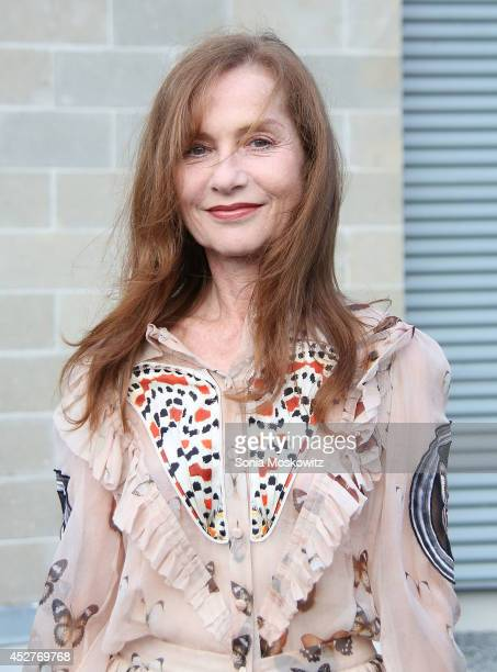 Isabelle Huppert attends 21st Annual Watermill Summer Benefit at The Watermill Center on July 26 2014 in Water Mill New York