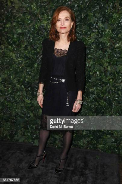 Isabelle Huppert attends a preBAFTA party hosted by Charles Finch and Chanel at Annabel's on February 11 2017 in London England