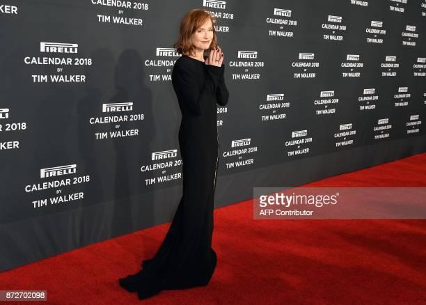 Isabelle Huppert attends the 2018 Pirelli Calendar Launch Gala at Manhattan Center on November 10 2017 in New York City / AFP PHOTO / ANGELA WEISS