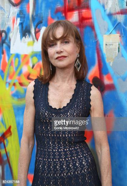 Isabelle Huppert attends the 24th Annual Watermill Center Summer Benefit and Auction at The Watermill Center on July 29 2017 in Water Mill New York