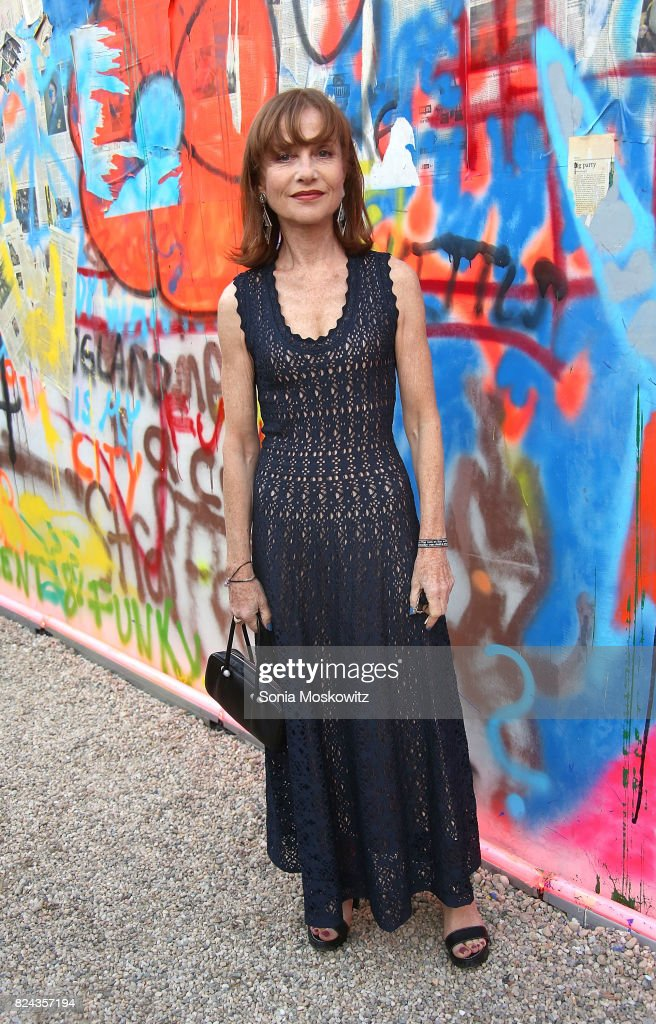 Isabelle Huppert attends the 24th Annual Watermill Center Summer Benefit and Auction at The Watermill Center on July 29, 2017 in Water Mill, New York.