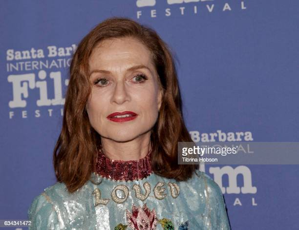 Isabelle Huppert attends the 32nd Santa Barbara International Film Festival Montecito Tribute at Arlington Theater on February 8 2017 in Santa...