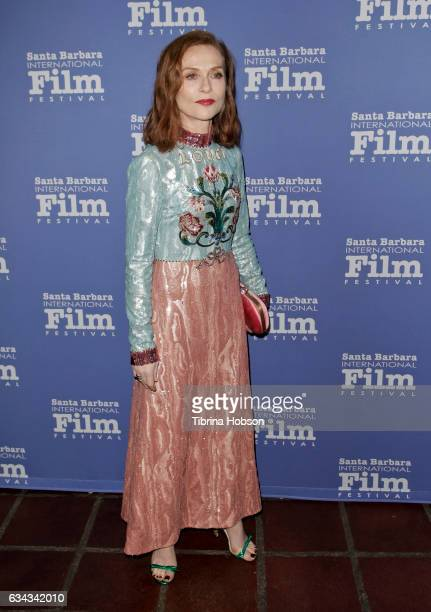 Isabelle Huppert attends the 32nd Santa Barbara International Film Festival Montecito Tribute at Arlington Theater on February 8 2017 in Santa...