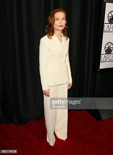 Isabelle Huppert attends the 42nd Annual Los Angeles Film Critics Association Awards on January 14 2017 in Pasadena California