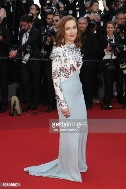 Isabelle Huppert attends the 70th anniversary event during the 70th annual Cannes Film Festival at Palais des Festivals on May 23 2017 in Cannes...