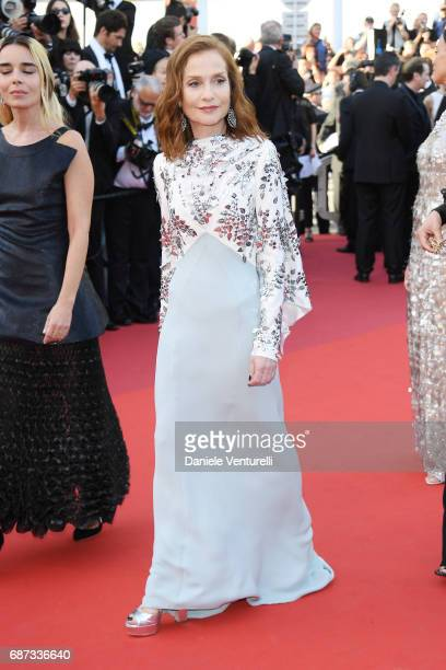Isabelle Huppert attends the 70th Anniversary screening during the 70th annual Cannes Film Festival at Palais des Festivals on May 23 2017 in Cannes...