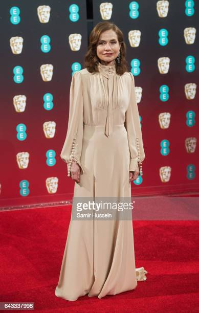 Isabelle Huppert attends the 70th EE British Academy Film Awards at Royal Albert Hall on February 12 2017 in London England