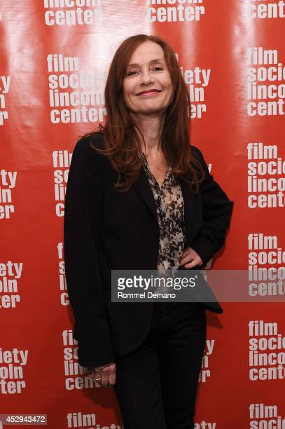Isabelle Huppert attends the 'Abuse Of Weakness' screening at The Film Society of Lincoln Center on July 30 2014 in New York City
