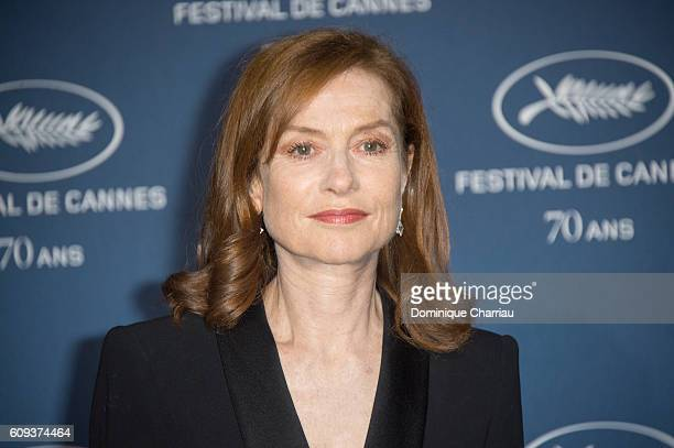 Isabelle Huppert attends the Cannes Film Festival 70th Anniversary Party at Palais Des Beaux Arts on September 20 2016 in Paris France