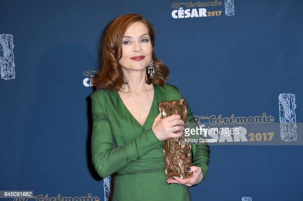 Isabelle Huppert attends the Cesar Film Awards 2017 at Salle Pleyel on February 24 2017 in Paris France